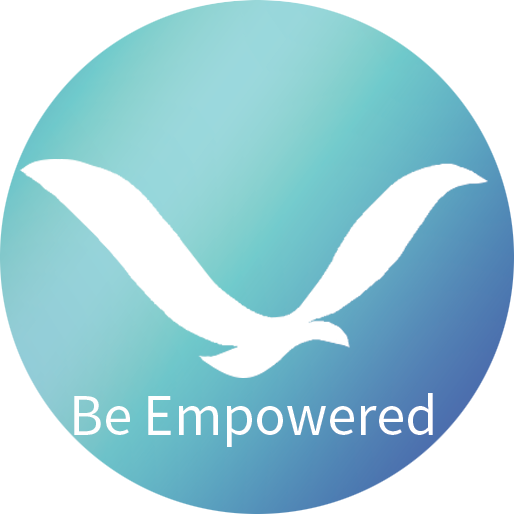 logo for Christine Lang Tapping showing the Be Empowered bird